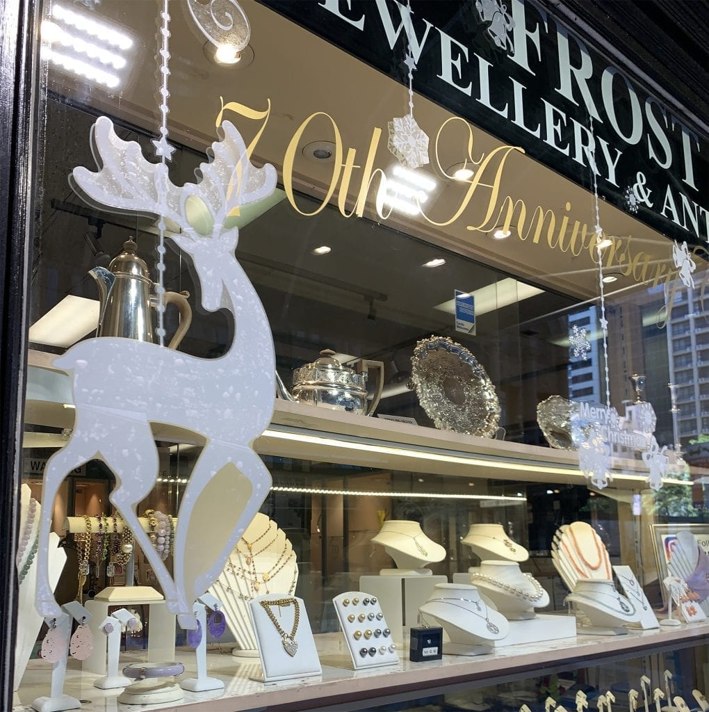 Frost Jewellery Store Decorated for Christmas